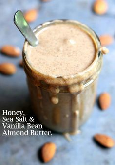 Almond butter made in a food processor