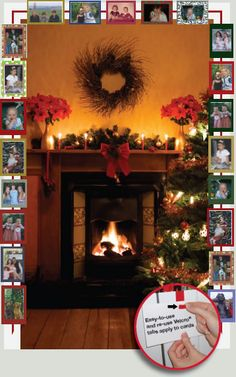 Display your Christmas cards holder around your mantle or your Christmas cards holder can be hung over and down a doorway.