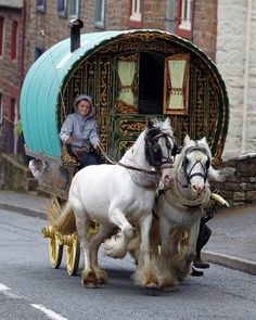 People arrive for the start of the Appleby Horse Fair, the annual gathering of gypsies and travellers in Appleby, Cumbria