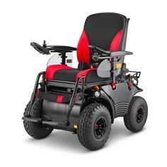 The Meyra Optimus 2 is the ultimate in power electric wheelchairs for sustained outdoor use.  Rugged design and a host of special features make it suitable for driving bad roads, in areas where there are many kerbstones to conquer, for longer drives on steep inclines, and for driving on unpaved roads and/or paths.