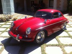 #Porsche 356 Super 90, stunning in red and available for sale at €85k see