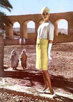 Wilhelmina is wearing Maurice Roger, photographed in Algeria by Roland de Vassal, 1960