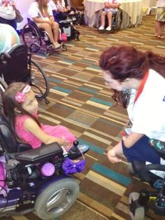 Jenny Adams Speaks to a Girl with a Disability
