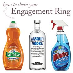 3 cheap, effective methods to clean your engagement ring without an expensive ultrasonic jewelry cleaning machine? Yes, please! Click to read the post on our blog!