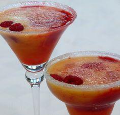 Fuzzy Melba's .... Peaches & Raspberries delish!!