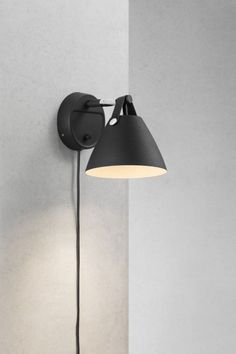 Strap vägglampa Sconces, Wall Lights, Lighting, Design, Home Decor, Light Fixtures, Metal, Black, Homemade Home Decor