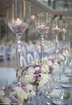 Head table glasses with colored beads