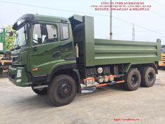Xe tải ben Dongfeng trường giang 13 tấn 3 cầu (6x6)