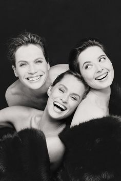 1988. Vogue Italia. Models Veruschka, Lauren Hutton and Isabella Rossellini. Photo by Steven Meisel (B1954)
