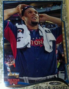 2014 Topps Update Camo Short Prints Carlos Gomez 67/99 & Jason Bartlett 59/99 SP #MilwaukeeBrewers
