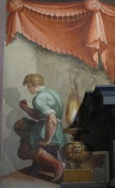 Origin of painting Sala Grande, Casa Vasari  Firenze 1572 - GIORGIO VASARI (Arezzo, 30 luglio 1511 – Firenze, 27 giugno 1574)   #TuscanyAgriturismoGiratola