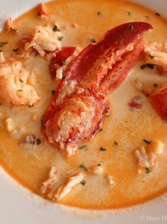 25 Seafood Stew Dishes To Make All Year - Seafood dishes to deal with the heat of summer months and the coldness of winner months? Seafood stew is such a perfect choice. Lobster Bisque Recipe, Seafood Bisque, Seafood Stew, Seafood Dinner, Lobster Stew Recipe Maine, Maine Seafood Chowder Recipe, Lobster Chowder, Crab Bisque, Lobster Recipes