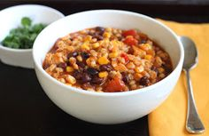 The Cilantropist: My Mom's Easiest Chicken Barley Chili
