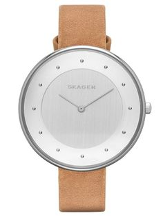 SKAGEN GITTE | SKW2326 Watches For Men, Leather Accessories, Leather Jewelry, Silver Jewellery, Saddle Leather, Brown Leather, Skagen Watches, Analog Watches, Silver Watches