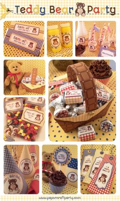 Printable Teddy Bear Party by Paper Craft Party