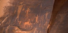 Native American Rock Art, Moab, Utah.      Images by Lloyd Record