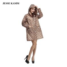 JESSE KAMM Lovely Colorful Dot Fashion Women's Raincoats Conjoined Thin Breathable Women Rainwear Outdoor Keep Warm Rain-proof #Affiliate #RaincoatsForWomenPolkaDots