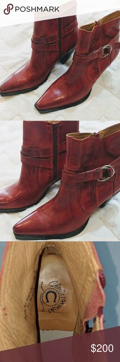 b7fe8cc4226 Charlie 1 horse red boots Unique Charlie one horse red boots artesian  handcrafted in Brazil size