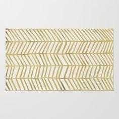 Gold+Herringbone+Rug+by+Cat+Coquillette+-+$28.00