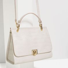 CITY BAG WITH FASTENING DETAIL from Zara