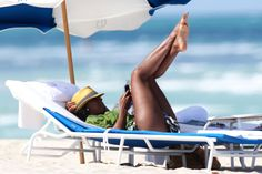 Kelly Rowland on the beach in Miami