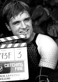 "Josh Hutcherson on set of ""Catching Fire"""