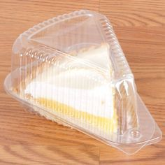 Polar Pak 3210 5 x 4 x 3 Clear OPS Wedge Single-Slice Pie Container with Medium Dome Lid - Disposable Food Containers, Take Out Containers, Food Storage Containers, Cake Slice Boxes, Pie Box, Tabletop Signs, Pie Cake, Cake Servings, Organizer