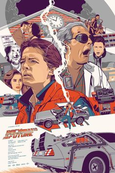 Back to the Future illustration poster Best Movie Posters, Cinema Posters, Movie Poster Art, Poster S, Cool Posters, Poster Maker, Event Posters, Print Poster, Plakat Design