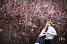 Antonia and Sean and a lush backdrop of cherry blossoms in New London, PA, mkPhoto.com, mkPhotography