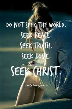 God and Jesus Christ:We do not need to seek anyone or anything but the Lord! Find your contentment and satisfaction in the Lord. Images Bible, Encouragement, Soli Deo Gloria, Jesus Cristo, Bible Verses Quotes, Scriptures, Quotes About God, Jesus Loves, Spiritual Quotes