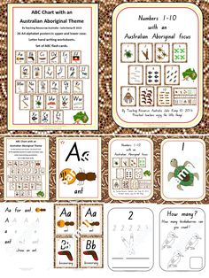 """""""Like"""" this resource for a discountLike this resource by using the social media icons & a discount will be applied to your purchase at checkout. Share Alphabet and Number Charts with an Aboriginal theme in NSW font. Buy together and save $2! This is an instant digital download. This package contains my popular Alphabet and …"""