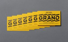 Grano visual identity and business cards designed by Bond. Premium Business Cards, Unique Business Cards, Creative Business, Brand Identity Design, Graphic Design Branding, Ticket Design, Bond, Bussiness Card, Business Card Design Inspiration