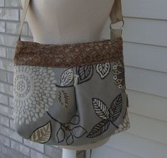 Cross Body Tote purse messenger hip bag by ShaggyBaggy on Etsy, $55.00