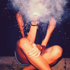 Glitter smoke. Can we do a picture like this together molly?!?