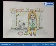 Hagrid y Harry en el Underground por Jenn Rodriguez