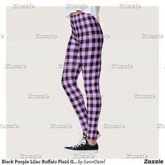 Shop Black Powder Pink Buffalo Plaid Gingham Leggings created by LeonOziel. Black Leggings, Yoga Leggings, Yoga Pants, Custom Leggings, Gym Style, Purple Lilac, Gingham Check, Running Tights, Powder Pink