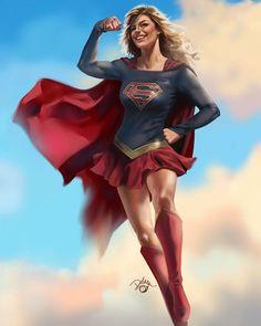 I think that's my very first fanart piece of supergirl from DC Comics. Heroes Dc Comics, Dc Comics Art, Comics Girls, Marvel Dc Comics, Batwoman, Batgirl, Batman Vs Superman, Superman Family, Power Girl Supergirl