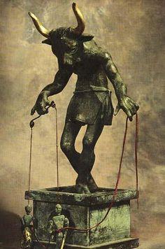 Minotaur puppeteer sculpture by Wendy Froud