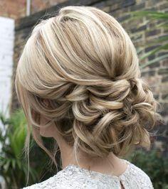 Featured Hairstyle: Courtesy of Hair and Makeup by Steph (Stephanie Brinkerhoff); wedding hair styles idea; www.hairandmakeupbysteph.com #weddingmakeup