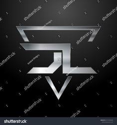 JL Logo, Metal Logo, Silver Logo, Monogram, Polygon Silver Logo, Adobe, Monogram, Metal, Illustrations, Backgrounds, Artists, Cob Loaf, Monograms