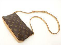 Louis Vuitton Authentic Monogram Trotteur Cross body Shoulder Bag Auth LV #LouisVuitton #ShoulderBag