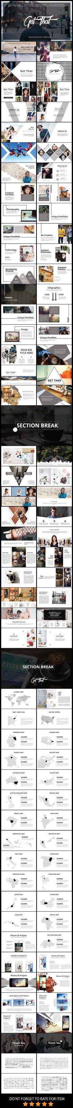 tes 2 Get That Multipurpose PowerPoint Presentation Template ds Portfolio Design, Book Portfolio, Layout Print, Layout Design, Webdesign Inspiration, Graphic Design Inspiration, Mise En Page Web, Keynote Design, Design Presentation