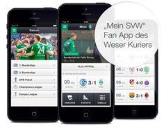 Für die Fans des SV Werder Bremen: Die Mein SVW App vom Weser Kurier.