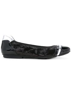 Suede Ballet Flats with Sequined Toe Spring/summer Hogan X1FDuux0