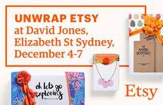 Etsy marketplace at David Jones this Christmas #etsyatdavidjones #handmadekids