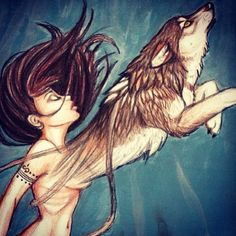 wolf spirit... beautiful, mine would be a dragon or something with wings lol