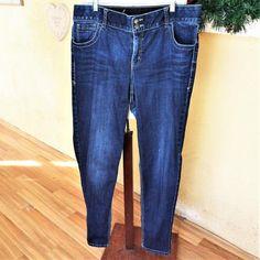 04a5756b4a8 Lane Bryant Womens 20L Long Plus Jeans Skinny Straight Leg Stretch Tighter  Tummy  LaneBryant
