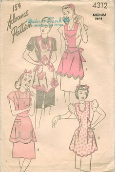 1940s Advance 4312 Vintage Sewing Pattern Misses by midvalecottage, $14.00