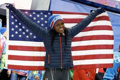 Former #Illini track and field sprinter and shot putter Aja Evans wins a bronze medal for the USA Bobsled team at the 2014 Sochi Winter Olympic games. #Sochi2014