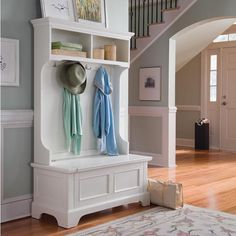 Keep your foyer or mud room organized.